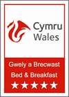 Visit Wales 5 Star Bed & Breakfast